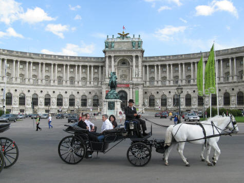 Hofburg Imperial Palace in Vienna Austria