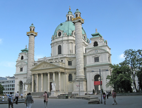 St. Charles' Church in Vienna (Karlskirche)