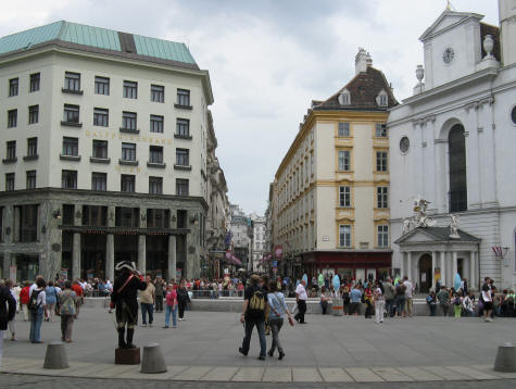 Michaelerplatz in Vienna Austria